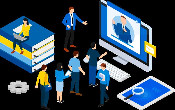 asesor online atendiendo clientes