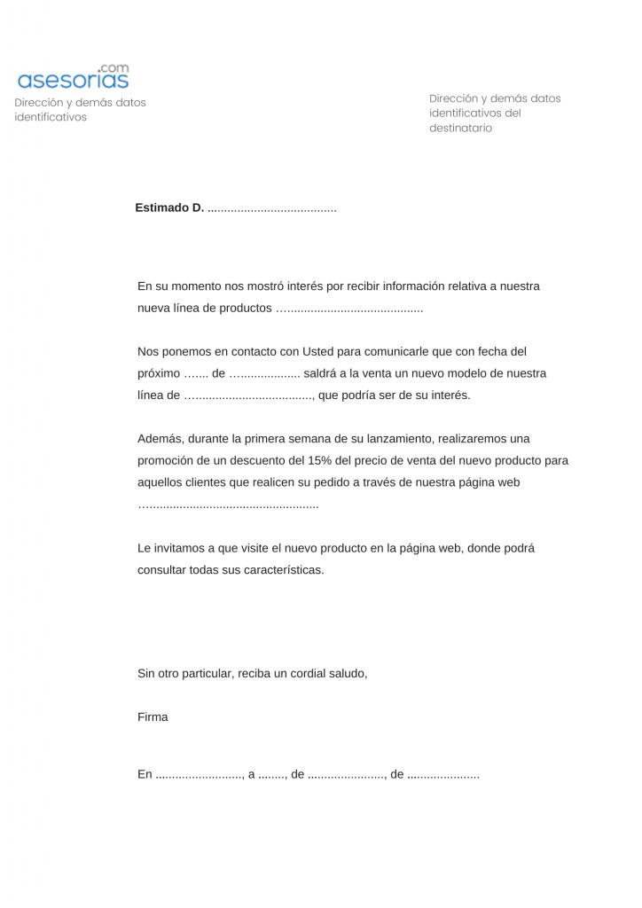 Carta comercial captar clientes