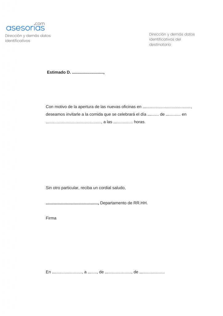 Carta comercial circular