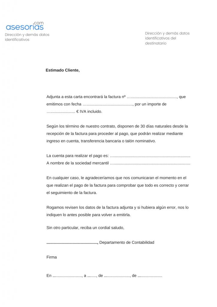 Carta comercial seguimiento comercial