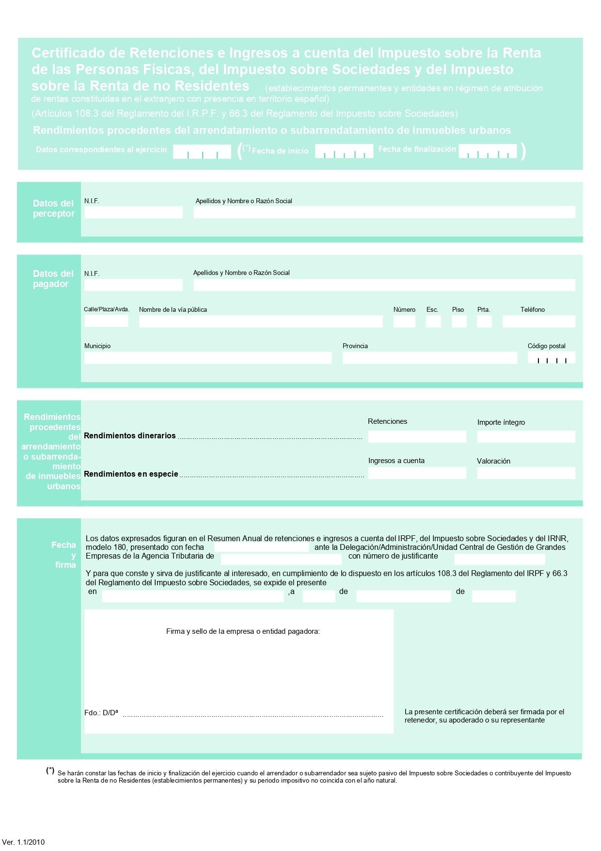 certificado retenciones
