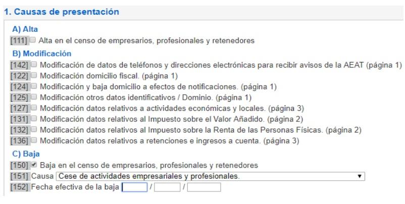formulario solicitud baja autonomos