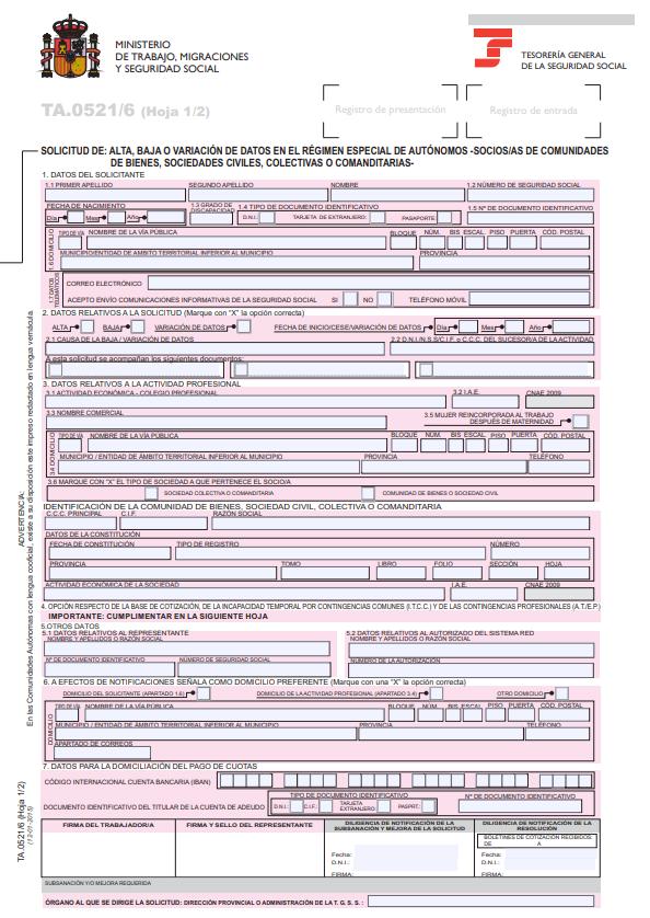 solicitud variacion datos reta pagina 1