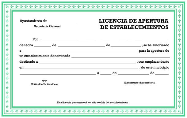 Licencia de apertura de establecimiento