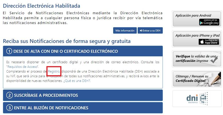 registro notificaciones 060