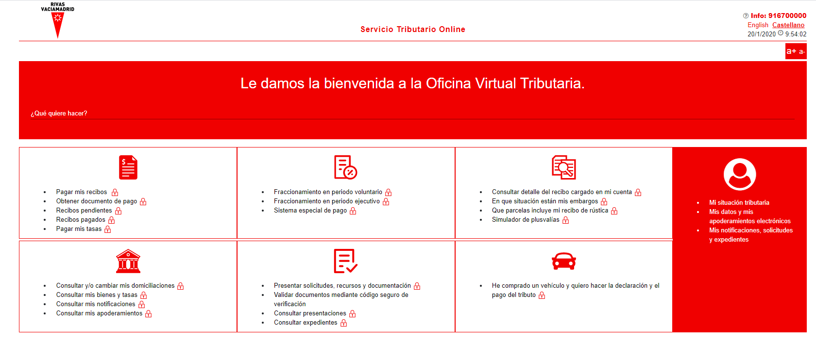 oficina virtual tributaria