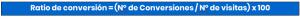 Fórmula Ratio de Conversión