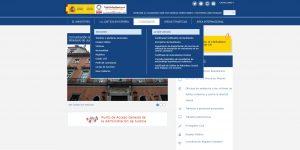 web del Ministerio de Justicia