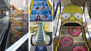 ambient marketing escaleras mecanicas