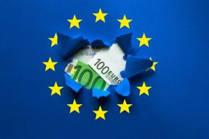 Coronabonos concepto bandera UE