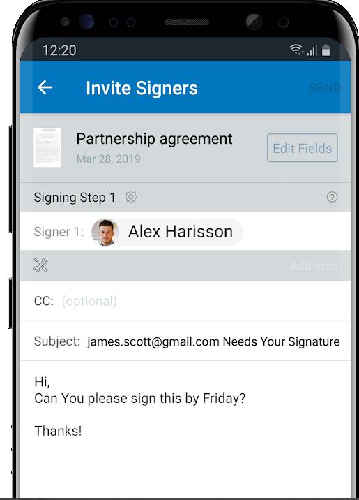 Signnow pdf móvil