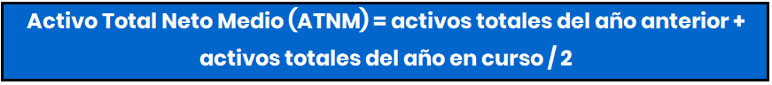 Rotación de Activo total medio neto formula