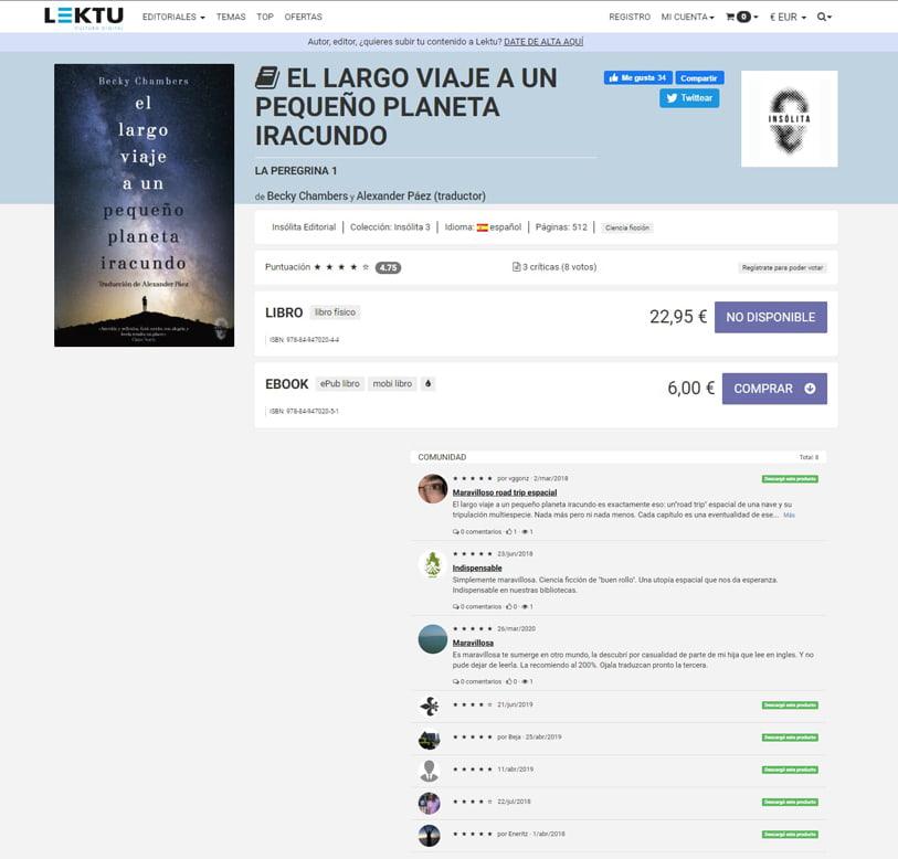 Ranking web social commerce
