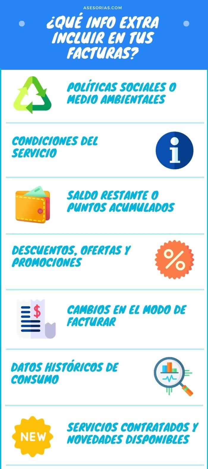 billing marketing e informacion en facturas