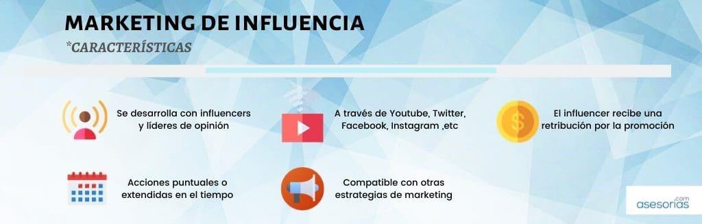 caracteristicas del marketing de influencia