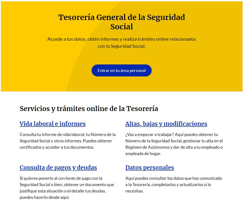 importss portal información seguridad social
